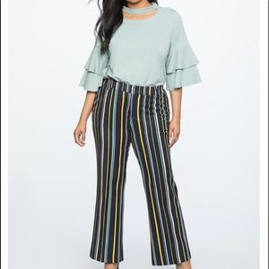 Eloquii multi stripe pants